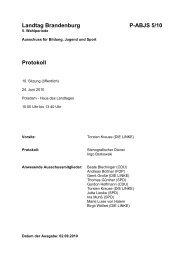 Protokoll - DIE LINKE. Dr. Gerd-Rüdiger Hoffmann