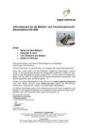 und Tourismusbranche Monatsdienst 06-2008 - Ungarn
