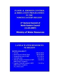 Erosion Control & - Ministry of Development of North Eastern ...