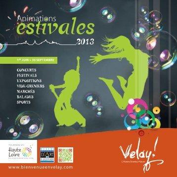Calendrier des animations estivales du Velay 2013 - Communauté ...