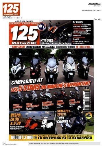 + SUPPLÉMENT GUIDE DACHAT 16s modèles SCOOTERS ... - Sym