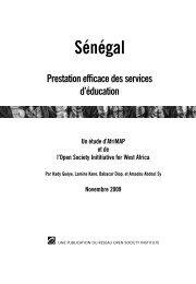 Sénégal Prestation efficace des services d'éducation Un… - AfriMAP