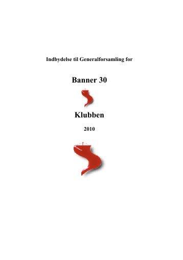 Generalforsamling 2010 - Banner 30
