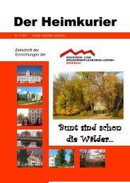 Der Heimkurier - Senioren- und Seniorenpflegeheim gGmbH Zwickau