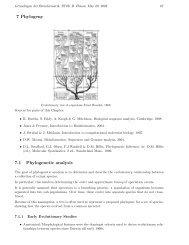 7 Phylogeny 7.1 Phylogenetic analysis - Algorithms in Bioinformatics
