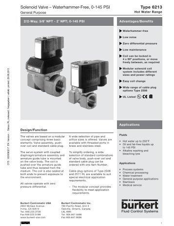 burkert 6012 solenoid valve spec sheet don johns