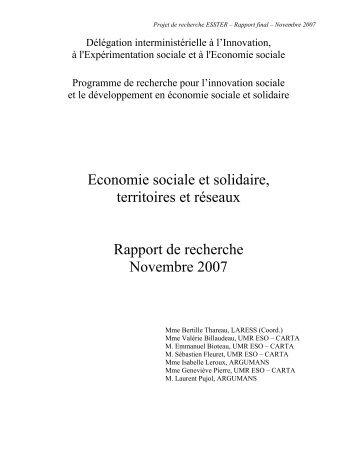 Rapport de recherche - Vintage