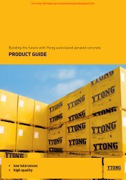 Ytong AAC blocks brochure - Barbour Product Search