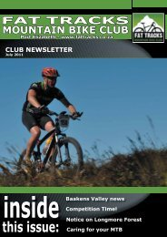 July Newsletter 2011 - Fat Tracks Mountain Bike Club