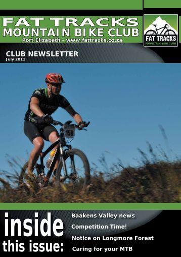July Newsletter 2011 - Fat Tracks Mountain Bike Club