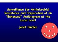 Surveillance for Antimicrobial Resistance and Preparation ... - SWACM