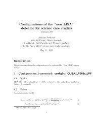 "Configurations of the ""new LISA"" detector for science ... - lisa-light wiki"