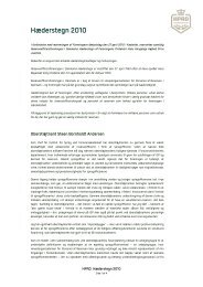 Hæderstegn 2010 - HPRD - Hovedorganisationen for Personel af ...