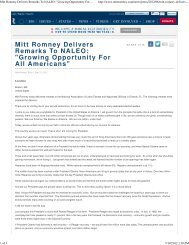 Mitt Romney Delivers Remarks To NALEO - 2012 Presidential Election