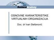 osnovne karakteristike virtualnih organizacija - Razvoj karijere
