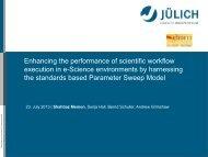 Enhancing the performance of scientific workflow ... - XSEDE