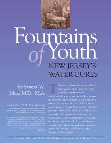 Fountains of Youth - Garden State Legacy