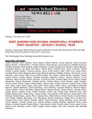 east aurora high school honor roll students first quarter – 2010/2011 ...