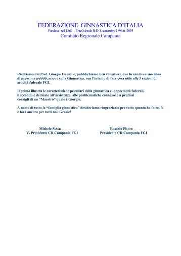 L' Assistenza - Comitato Regionale Campania F.G.I.