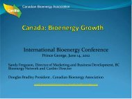 Sandy Ferguson: Canada - International Bioenergy Conference and ...