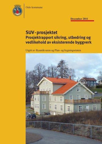 SUV - prosjektet Prosjektrapport sikring, utbedring og ... - Plan