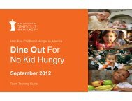2012 Employee Training Guide Final 8-14-12 ... - No Kid Hungry