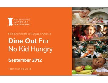 2012 Employee Training Guide Final 8-14-12 ... - No Kid Hungry