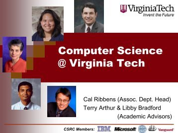 Computer Science @ Virginia Tech - Computer Science at Virginia ...