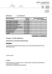 BV 308 - Risikoanalyse und Brandschutzbedarfsplan - Halberstadt