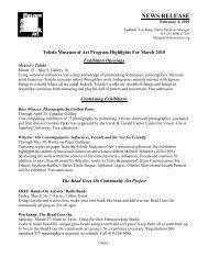NEWS RELEASE - The Toledo Museum of Art