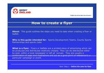 How to create a flyer - VicSport