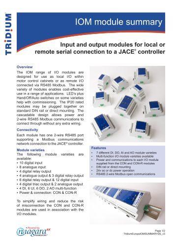 Tridium webpro ax Manual