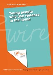 Young people who use violence in the home - WIRE Women's ...
