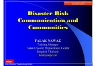 Disaster Risk Communication and Communities