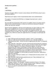 Società civile e politica 2003 L'ACPinFesta ... - ACP Network