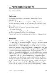 7. Parkinsons sjukdom - SBU
