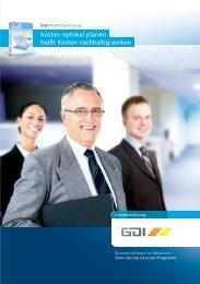 Prospekt GDI Kostenrechnung - GDI Software
