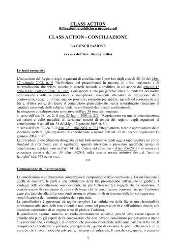 Class action e conciliazione - Studio Legale Riva