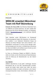 WEB.DE erweitert Münchner Team mit Rolf Stürenburg