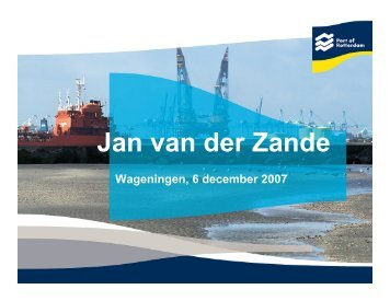 Bioport - Jan van der Zande - Biorefinery