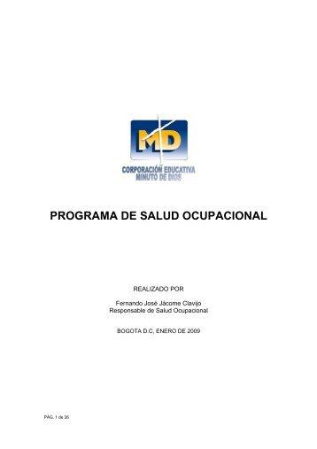 PROGRAMA DE SALUD OCUPACIONAL - Colegio Minuto de Dios