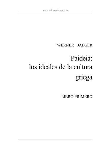Paideia: los ideales de la cultura griega - Liceo Javiera Carrera