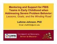 I Mentoring Support for PBIS Teams.pdf - MN PBIS