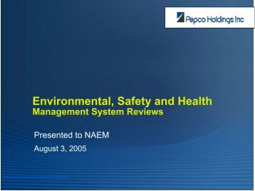 Environmental, Safety and Health Management System ... - NAEM