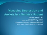 Managing Depression and Anxiety in the Elderly Patient - Center on ...