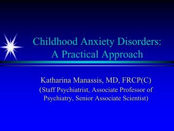 Childhood Anxiety Disorders - Children's Mental Health Ontario