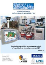 Rédaction de guides pratiques de calcul d'incertitude et ... - LCSQA