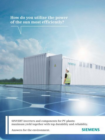 SINVERT Image Brochure - Siemens