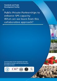 Public-Private Partnerships to enhance SPS capacity