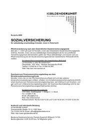 Sozialversicherung - IG Bildende Kunst